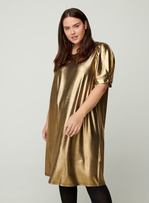 A-LINE PUFF SLEEVES - Cocktail dress / Party dress - gold