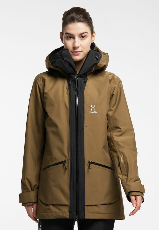 LUMI INSULATED PARKA - Snowboard jacket - teak brown/true black