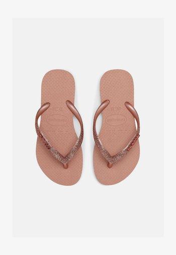 GLITTER II - T-bar sandals - crocus rose