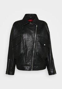 LEVARI - Leather jacket - black