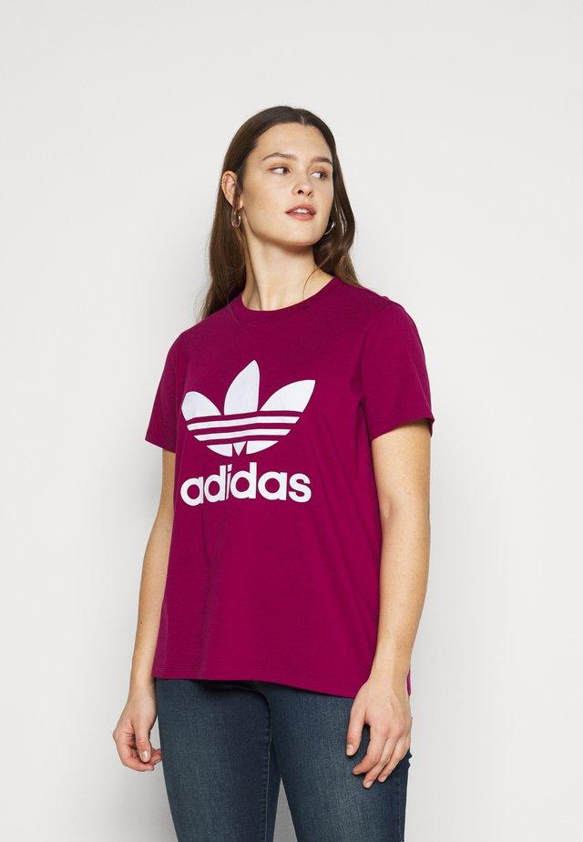 TREFOIL TEE - T-shirt z nadrukiem - powber/white