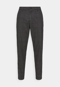 Selected Homme - SLHSLIMTAPERED YORK - Chino kalhoty - mottled dark grey/camel - 3