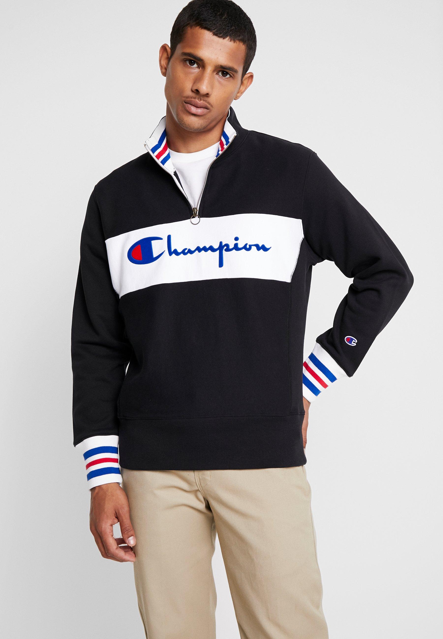 Champion HALF ZIP Sweatshirt blackschwarz Zalando.at