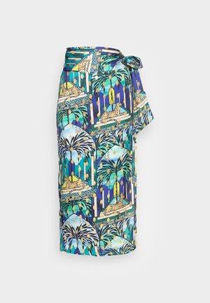 GAIA JASPRE SKIRT - Zavinovací sukně - blue