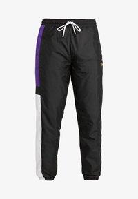New Era - COLOUR BLOCK TRACK PANT - Teplákové kalhoty - black/true purple/optic white - 3