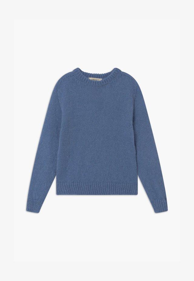 MAGLIA MIX - Pullover - blue denim