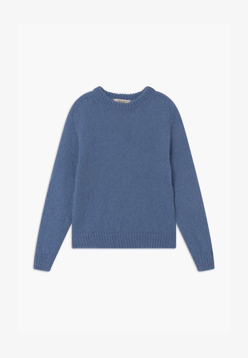 TWINSET - MAGLIA MIX - Jumper - blue denim