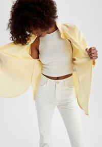 DeFacto - Button-down blouse - yellow - 4
