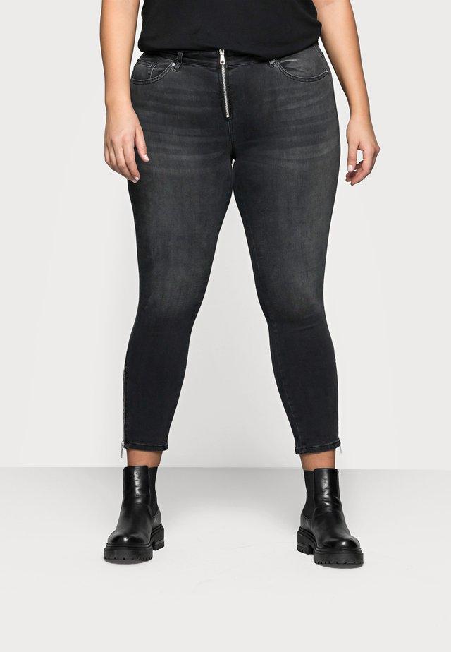 CARWILLY LIFE ZIP - Jeans Skinny Fit - dark grey denim