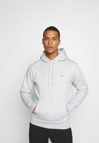 Tommy Jeans - REGULAR HOODIE - Hoodie - grey heather - 0