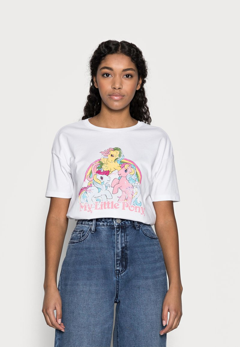 ONLY Petite - ONLMY LITTLE PONY LIFE - Print T-shirt - bright white