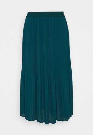 FALDA MIDI PLISADA - Pleated skirt - dark khaki