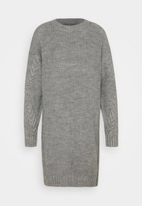 NM JIMMA - Jumper dress - light grey melange