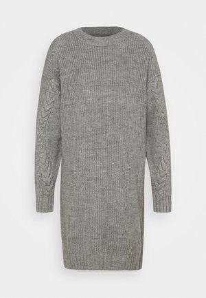 NM JIMMA - Vestido de punto - light grey melange