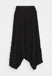 Proenza Schouler White Label - FRINGE FIL COUPE SKIRT - A-line skirt - black - 5