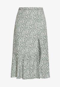 RUFFLE MIDI - Áčková sukně - green floral