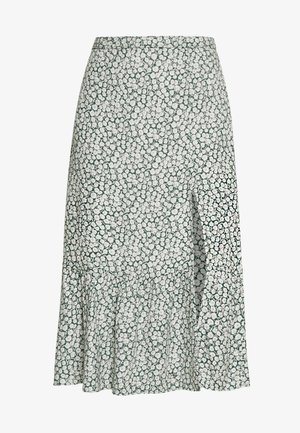 RUFFLE MIDI - A-snit nederdel/ A-formede nederdele - green floral