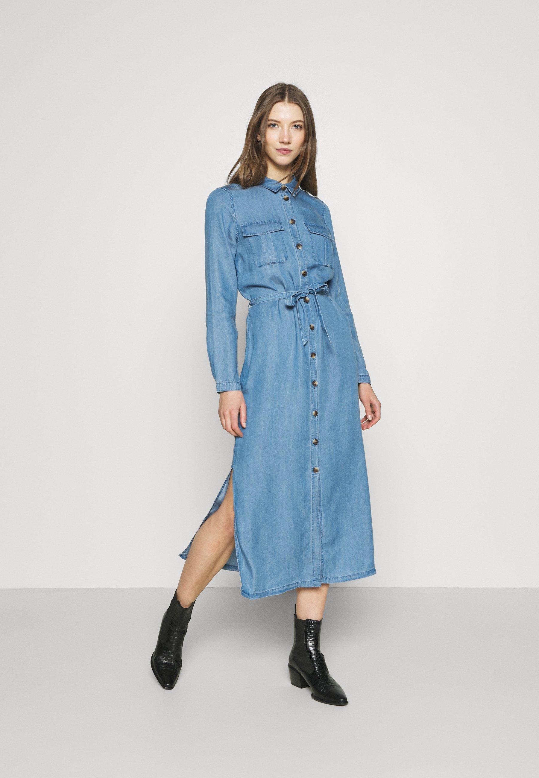 Women ONLCASI LIFE  - Denim dress - medium blue