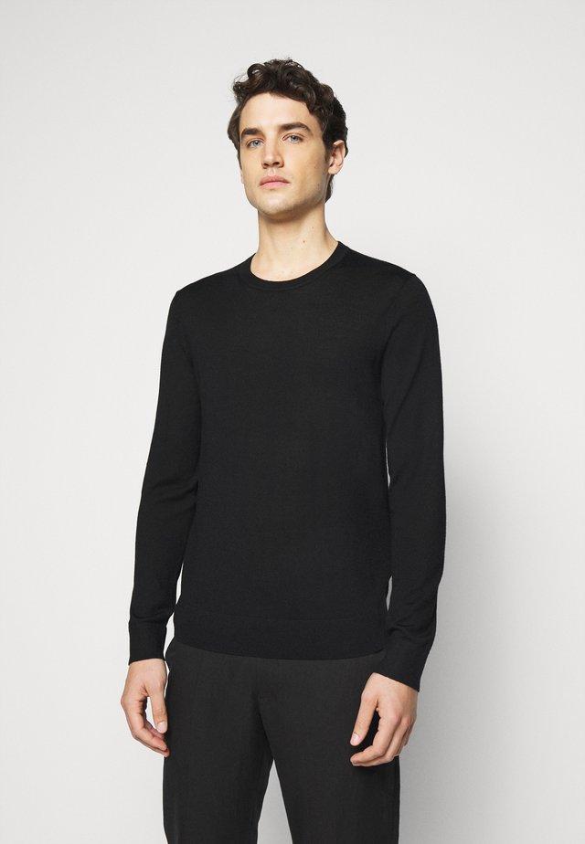 NEW BASIC CREW - Strickpullover - black