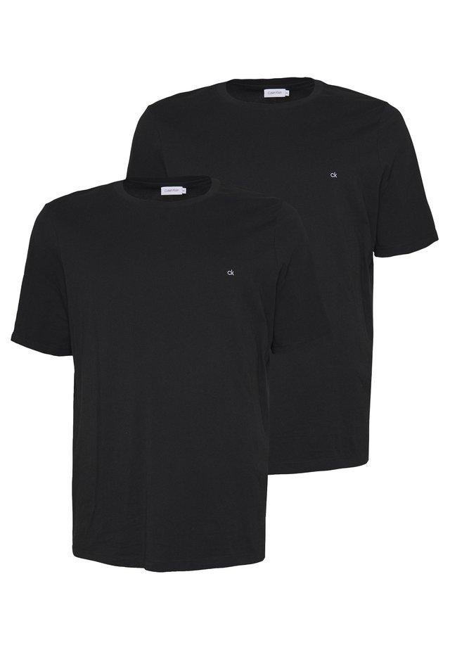 LOGO 2 PACK - Basic T-shirt - black