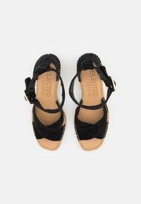 Selected Femme - SLFESTHER WEDGE  - Sandály na platformě - black - 5