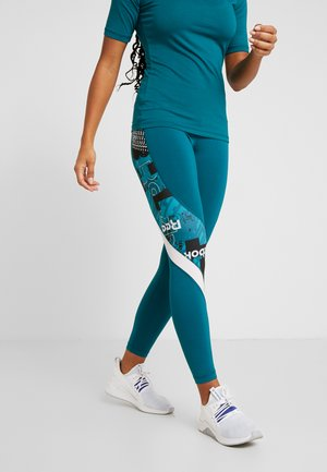 MEET YOU THERE TRAINING LEGGINGS - Collants - teal