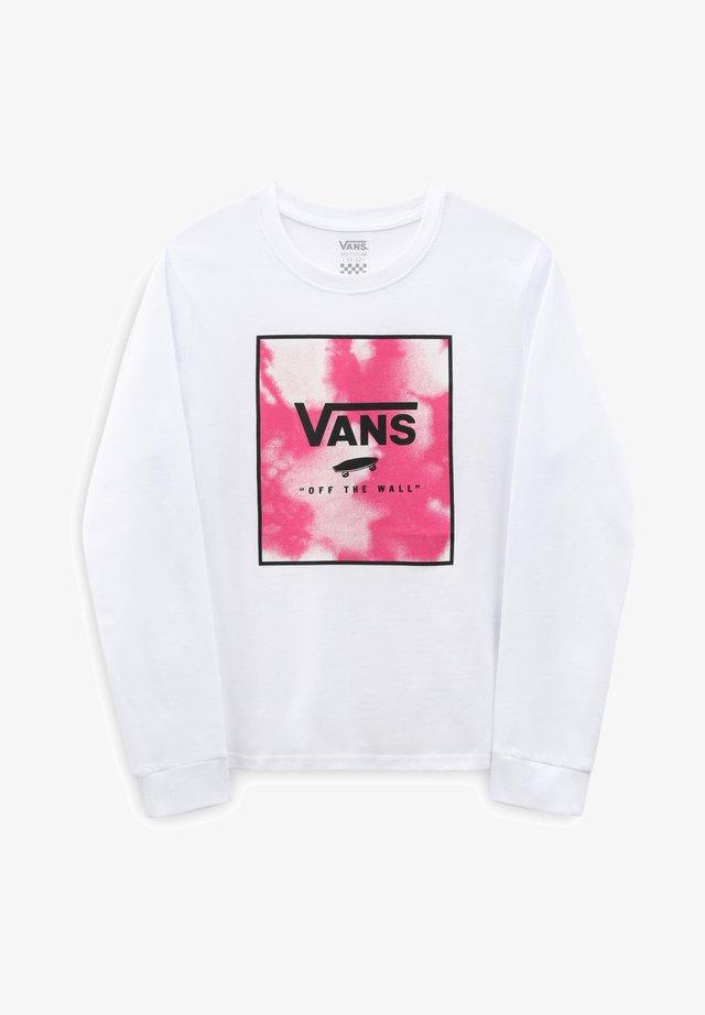 GR CLOUDY BOX - Långärmad tröja - white