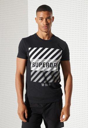 TRAINING CORESPORT GRAPHIC - T-shirt print - black