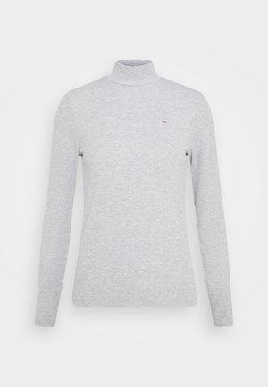 MOCK NECK LONGSLEEVE - Camiseta de manga larga - silver grey heather