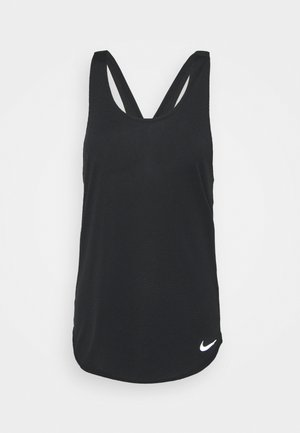 BREATHE TANK COOL - Linne - black/reflective silver