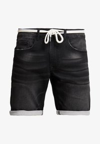 Redefined Rebel - SYDNEY TERRY - Denim shorts - marble black - 3