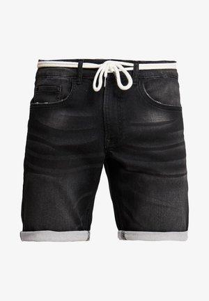 SYDNEY TERRY - Denim shorts - marble black