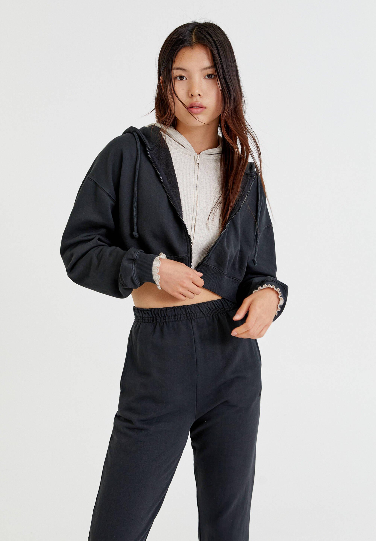 Donna BASIC - Felpa con zip