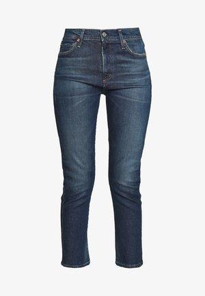 HARLOW ANKLE MID RISE  - Slim fit jeans - dark blue