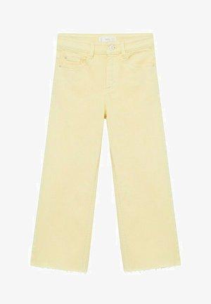 CULOTTEC - Straight leg jeans - pastel yellow