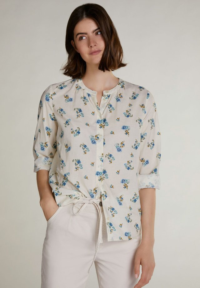 Blouse - offwhite green