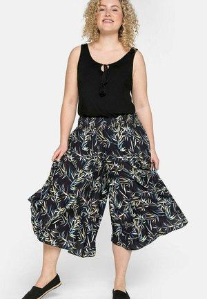 Trousers - schwarz/yellow