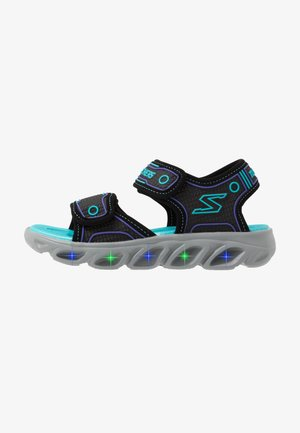 HYPNO-SPLASH - Walking sandals - black/turquoise/purple