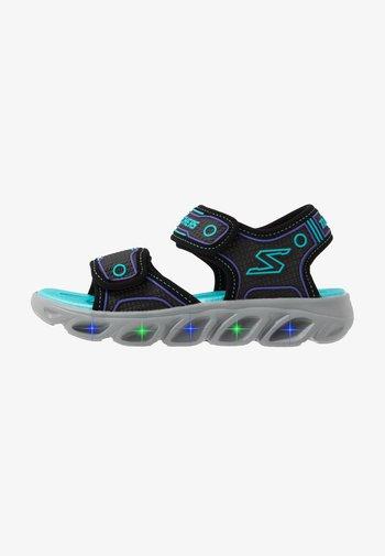 HYPNO-SPLASH - Walking sandals - black/turquoise/purple