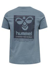 Hummel - HMLTORONTO  - Print T-shirt - china blue - 7