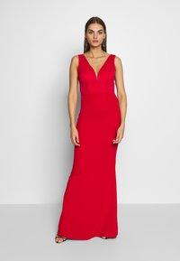 WAL G. - SLEEVLESS VNECK DRESS WITH SIDES - Vestido de fiesta - red - 0