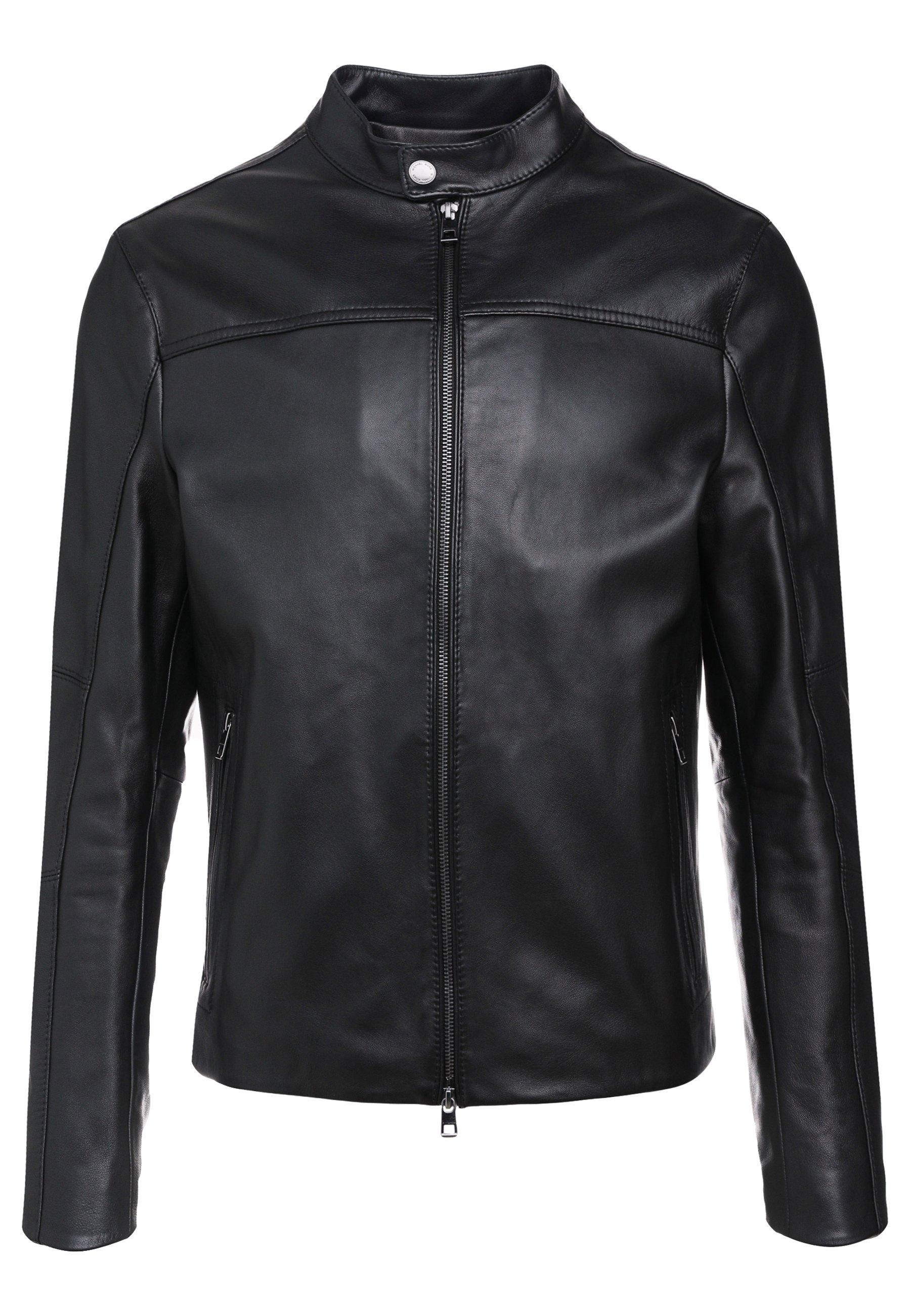 Men BASIC RACER JACKET - Leather jacket