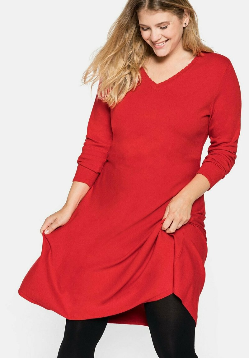 Sheego - Jumper dress - rot