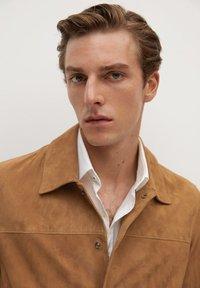 Mango - BONE-I - Leather jacket - beige - 5