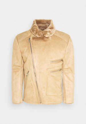 AVIATOR JACKET WITH SHERPA - Korte jassen - brown