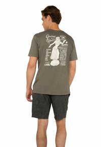 Protest - TALBOT  - T-shirt print - grey green - 2