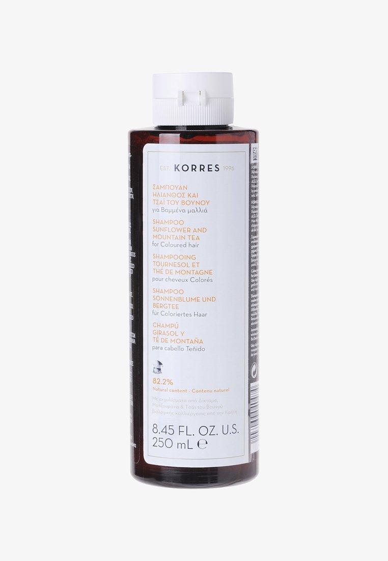 Korres - SUNFLOWER & MOUNTAIN TEA SHAMPOO 250ML - Shampoo - neutral