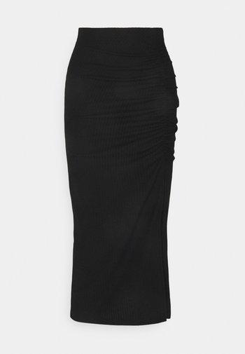 ONLNELLA SLIT SKIRT - Pennkjol - black