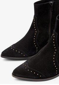 Bianco - BIADORA - Cowboy/biker ankle boot - black - 3