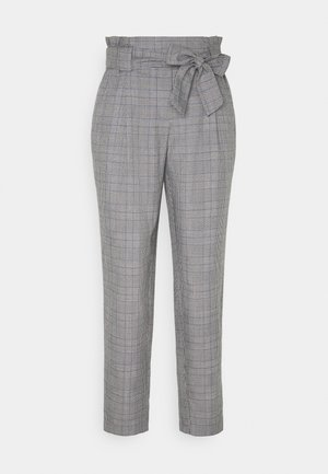 JDYTARA PANTS - Pantalon classique - dark grey melange/blue